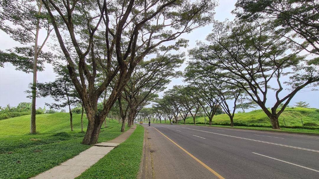 Jalan Gelap Nyawang di Kota Baru Parahyangan.