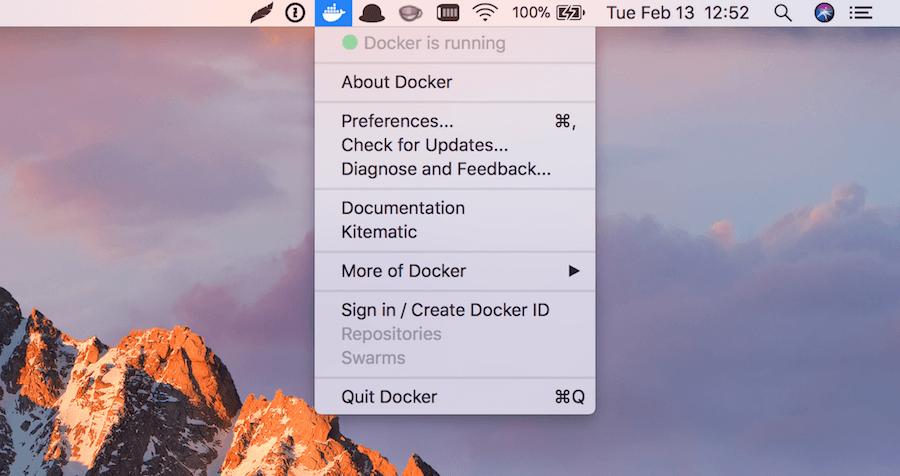 Docker is running