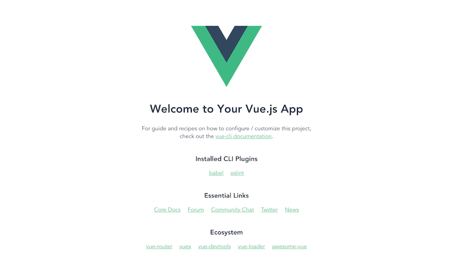 Vue CLI new project starter